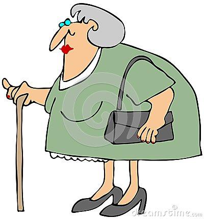 Alte frau clipart. Old woman purse stock