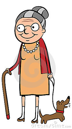 Old lady kid there. Alte frau clipart