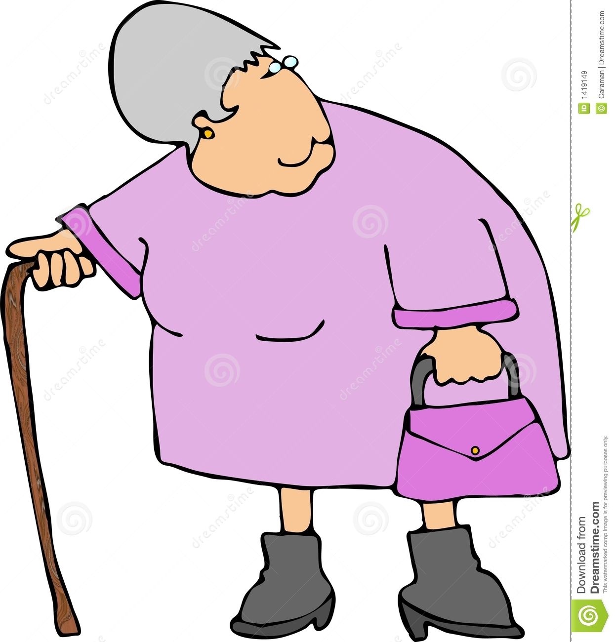 Alte frau clipart jpg free library Old Lady With Walker Clipart - Clipart Kid jpg free library