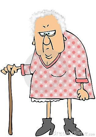 Alte frau clipart svg black and white download An Old Woman With A Cane Stock Photo - Image: 33909280 svg black and white download