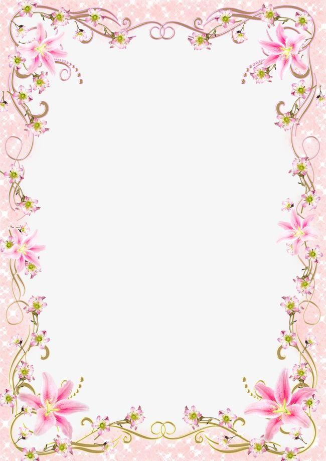 Pink floral frame clipart
