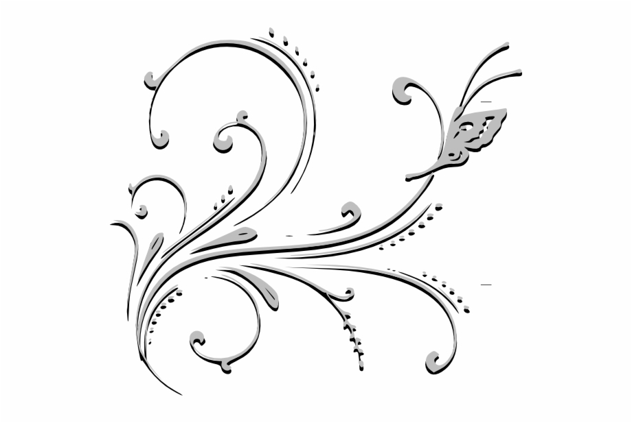 Alter flowers banner clipart svg royalty free library Banner Black And White Clip Art At Clker Com Vector - Flowers Black ... svg royalty free library