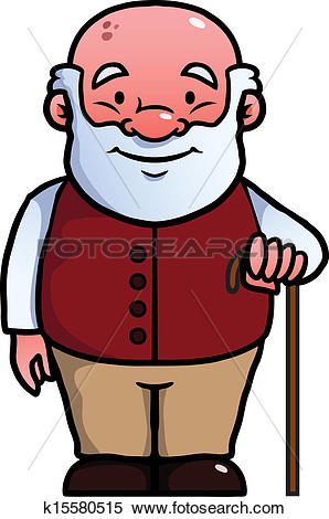 Alter opa clipart jpg royalty free stock Clipart of Old man holding a cane k15580515 - Search Clip Art ... jpg royalty free stock