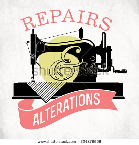Alteration clothes clipart clip art freeuse download Vector set of stylish tailor shop, cloth repair and alteration shop ... clip art freeuse download