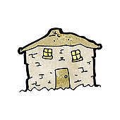 Of cartoon crumbling old. Altes haus clipart