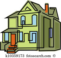 Altes haus clipart. Illustrationen und stock kunst