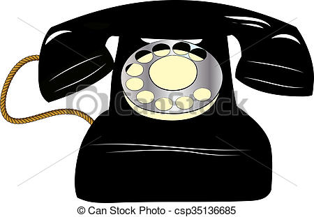 Altes telefon clipart clip art library schwarz, altes telefon clip art library