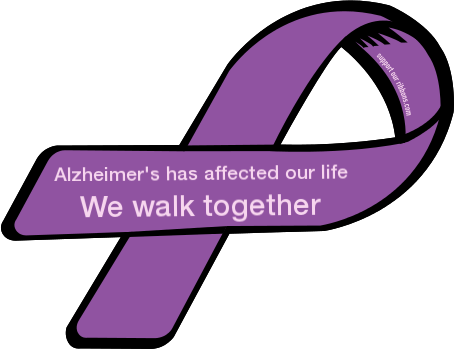 Altheimers border clipart jpg royalty free Alzheimer\'s has affected our life / We walk together - Custom Ribbon jpg royalty free