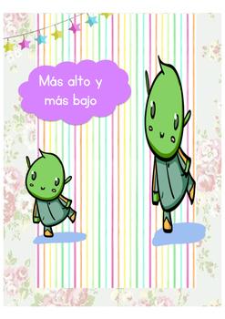 Alto y bajo clipart graphic royalty free library Taller-Shorter-Más alto-Más bajo by Lucia Fernandez | TpT graphic royalty free library