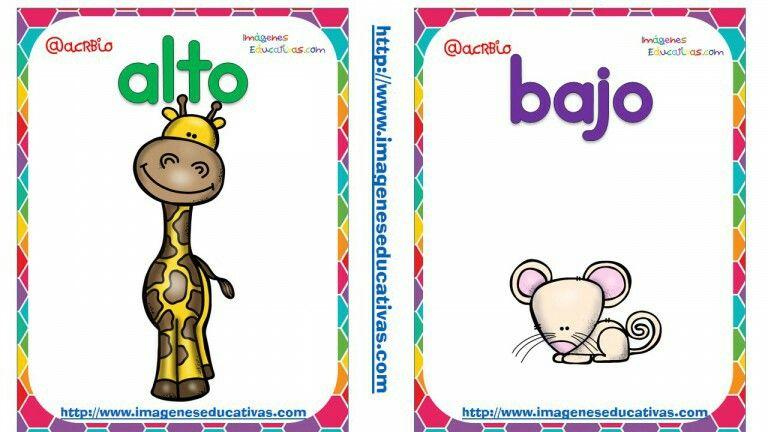 Alto y bajo clipart clipart royalty free library Opuestos alto bajo | Preschool | Opuestos preescolar, Opuestos para ... clipart royalty free library