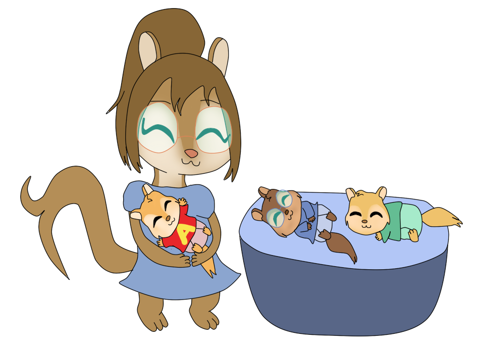 Alvin and the chipmunks football clipart image free library Vinny and her Baby Chipmunks by Bokeol on DeviantArt image free library