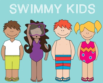 Always kids clipart clip art freeuse Swimmy Kids Clipart Freebie! {Commercial and Personal Use!} clip art freeuse