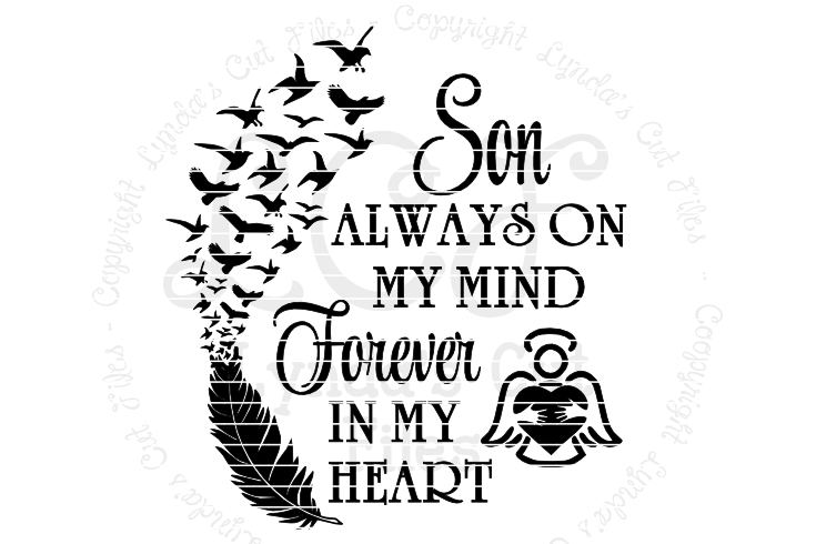 Always on my mind clipart svg royalty free download Son Always on my Mind Memorial SVGEPSDXF File svg royalty free download