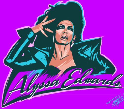 Alyssa edwards clipart picture black and white library Miss Alyssa Edwards turned it OWT on last night\'s Drag Race episode ... picture black and white library