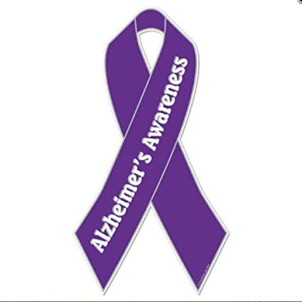Alzheimer s ribbon clipart freeuse Amazon.com : VictoryStore Yard Sign Outdoor Lawn Decorations ... freeuse
