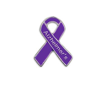 Alzheimer s disease purple ribbon clipart clip art free library Alzheimer\'s Awareness Ribbon Pin (1 Pin) (01 Pin, Alzheimer\'s Pin) clip art free library