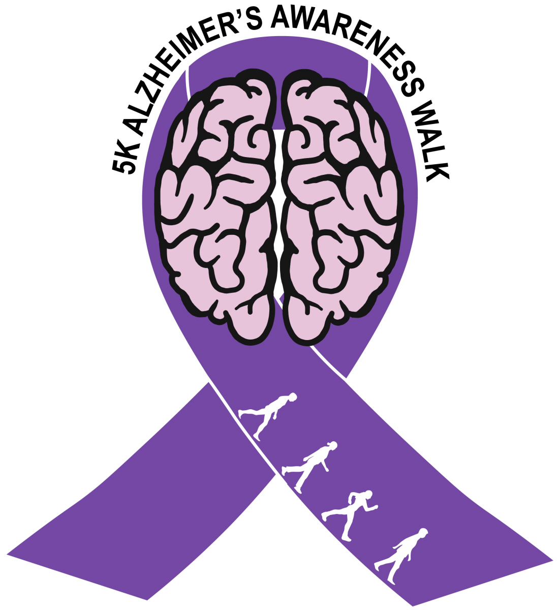 Alzheimer s ribbon clipart png black and white library 5K for Alzheimer\'s Awareness | The Honors College png black and white library