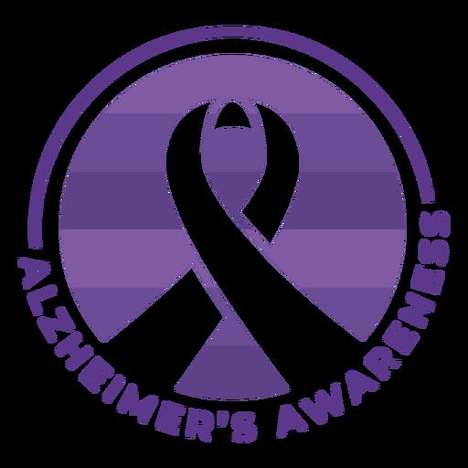 Alzheimer s ribbon clipart banner transparent download Alzheimer\'s awareness ribbon badge sticker - Transparent PNG & SVG ... banner transparent download