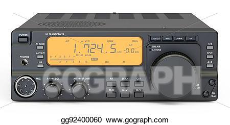 Amateur radio clipart images clip art freeuse stock Stock Illustration - Amateur radio transceiver, 3d rendering ... clip art freeuse stock