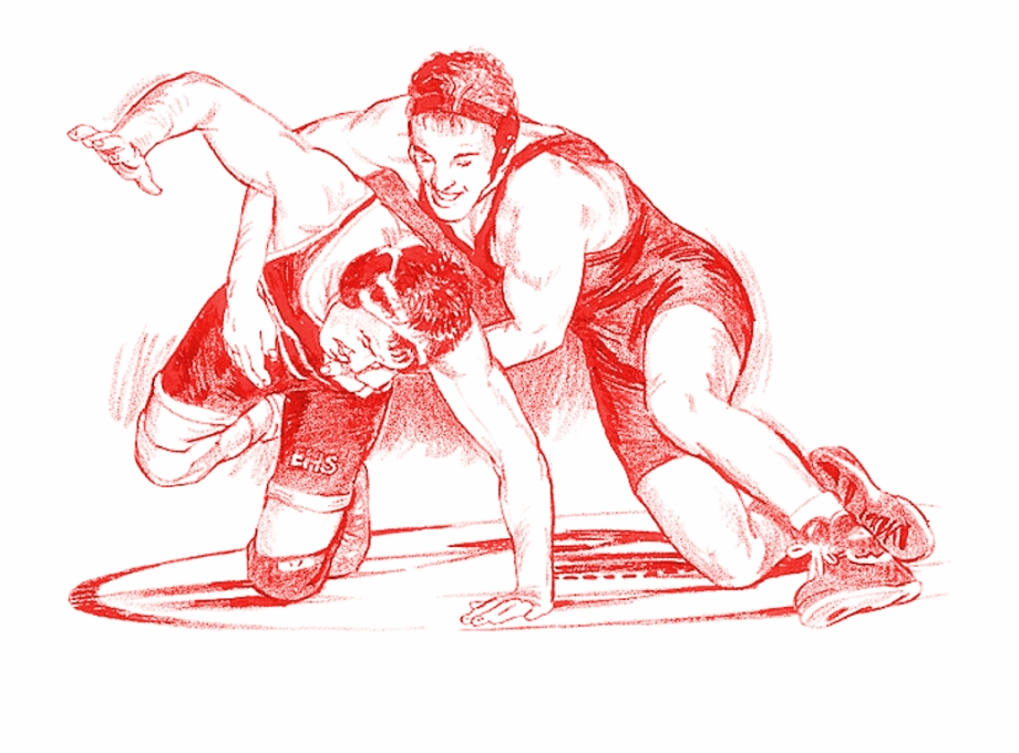 Amatuer wrestling grapple clipart