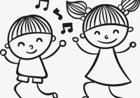 Amazed children black and white clipart banner transparent library Kids Dancing Clipart Panda Free Images Amazing Newest 14 | www ... banner transparent library