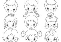 Amazed children black and white clipart banner free download Cute Kid Faces Clipart Set Children Head Kawaii Boy Etsy Acceptable ... banner free download