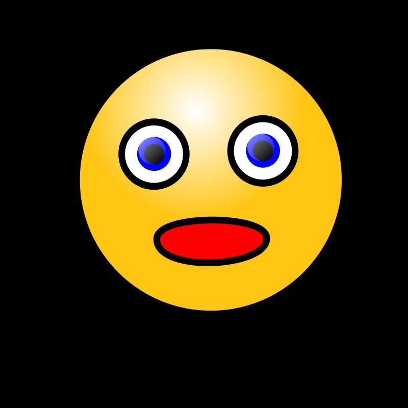 Amazed clipart banner free Free Clipart: Emoticons: Amazed face | nicubunu banner free
