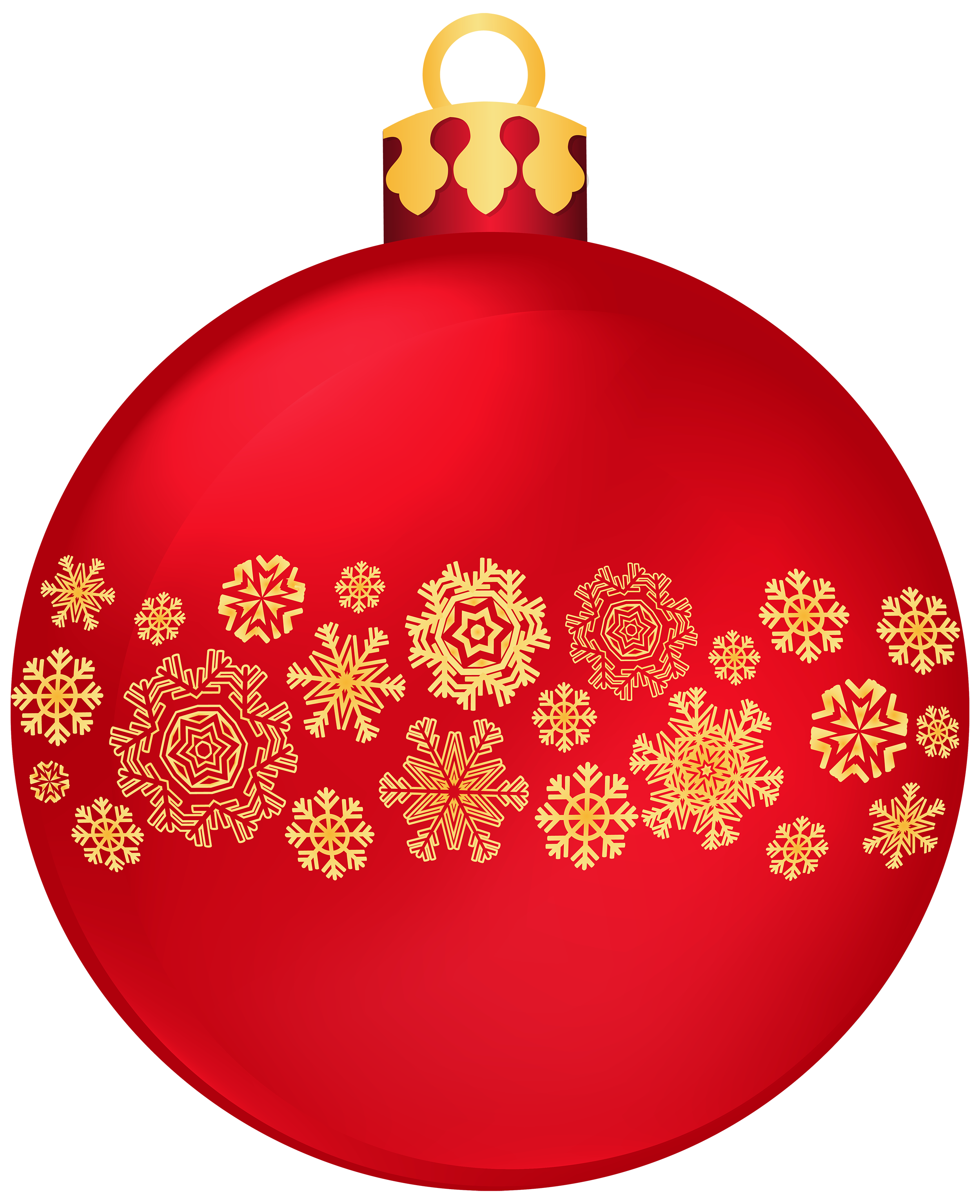 Snowflake clipart t jpg royalty free Red Christmas Ball with Snowflakes PNG Clipart - Best WEB Clipart jpg royalty free