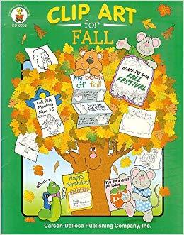 Amazon clipart books banner black and white stock Clip Art for Fall: Carson-Dellosa: 9780887244698: Amazon.com: Books banner black and white stock