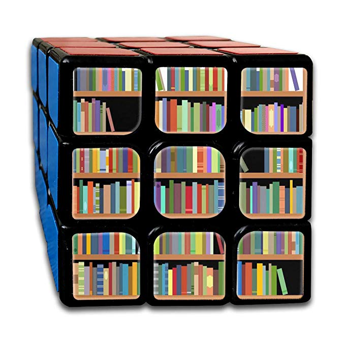 Amazon clipart books jpg library stock Amazon.com: Speed Cube 3x3 Fashion Sticker Smooth Bookshelves With ... jpg library stock
