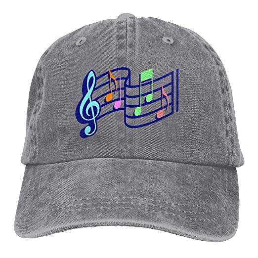 Amazon prime music clipart svg library stock Amazon.com: Music Notes Clipart Adjustable Cotton Cap Ash: Clothing svg library stock