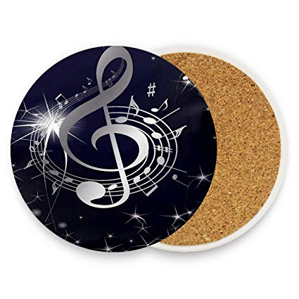 Amazon prime music clipart freeuse download Amazon.com | Music Notes Clipart Coasters, Prevent Furniture from ... freeuse download