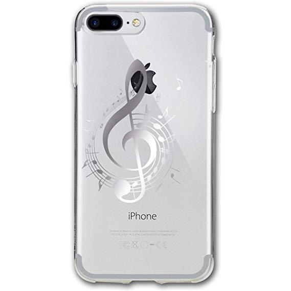 Amazon prime music clipart clipart library stock Amazon.com: Fashion iPhone 8 Case iPhone 7 Case Music Notes Clipart ... clipart library stock