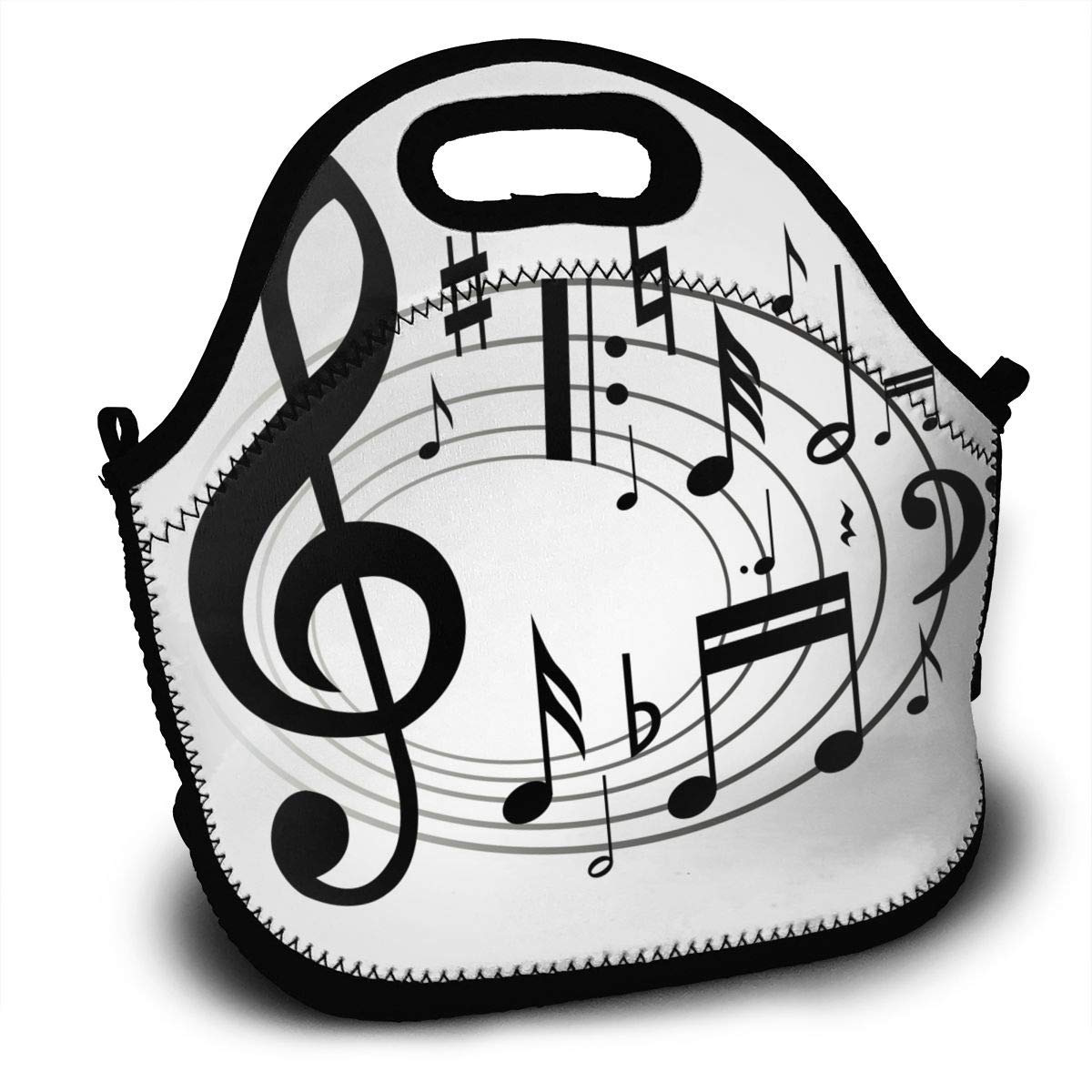 Amazon prime music clipart banner free Amazon.com: Music Notes Clipart Lunch Bag Womens Insulated Zipper ... banner free