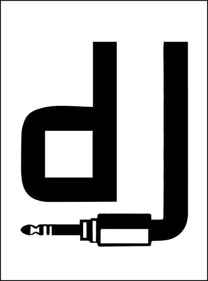 Amazon uk logo clipart clipart Art Canvas - DJ Logo White Canvas A4: Amazon.co.uk: Kitchen & Home clipart