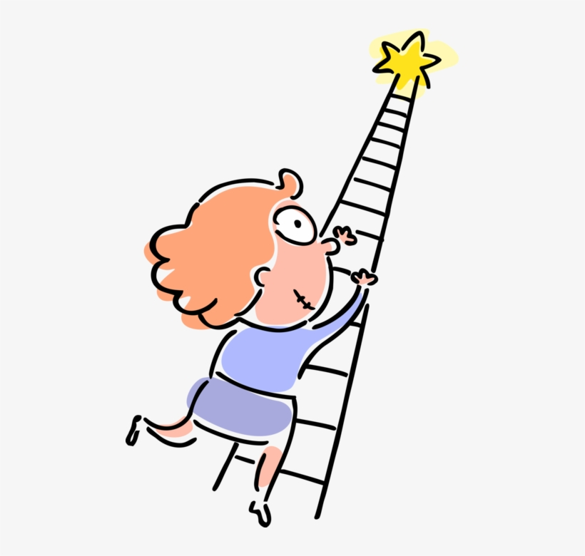 Ambicious girl clipart svg free library Vector Illustration Of Ambitious Businesswoman Climbs - Subir ... svg free library