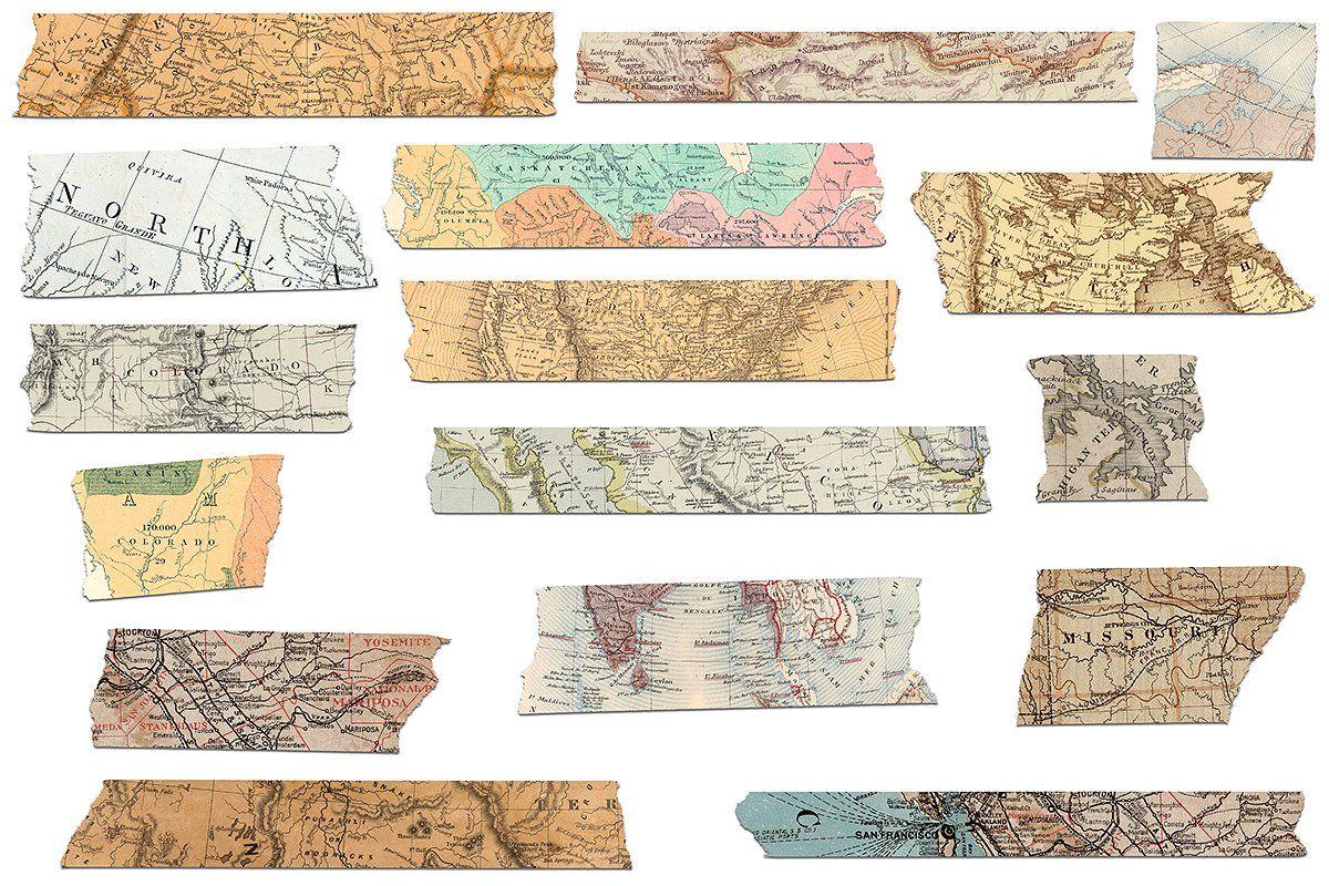 Ambled clipart jpg transparent stock Washi Tape Clipart - Old Maps #image#background#transparent ... jpg transparent stock