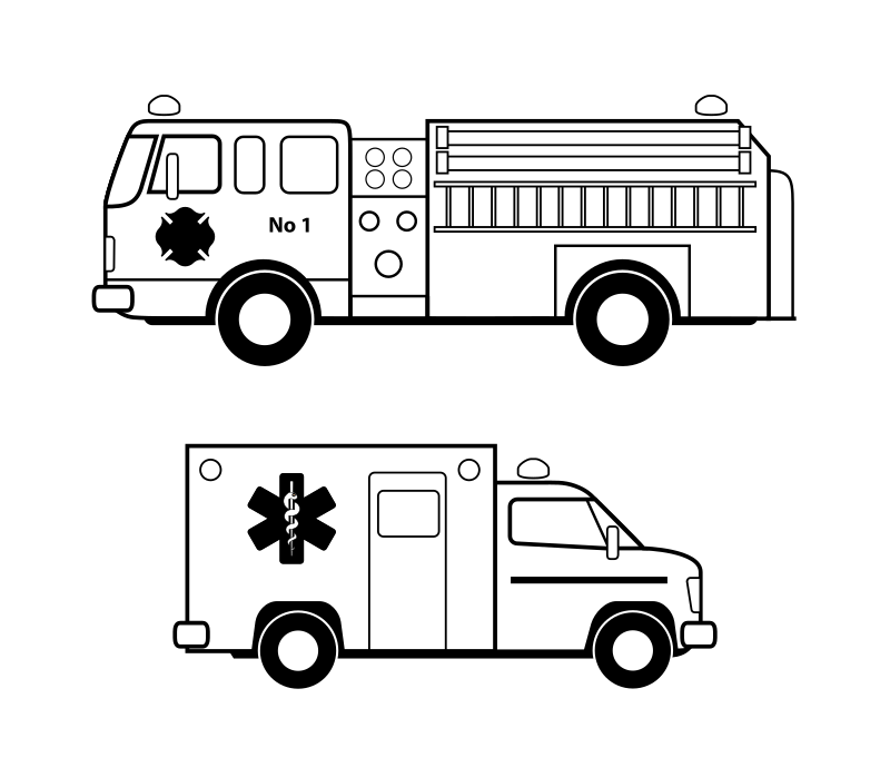 Ambulance car clipart image black and white library 44 Ambulance Cars Clipart Images - Free Clipart Graphics, Icons and ... image black and white library