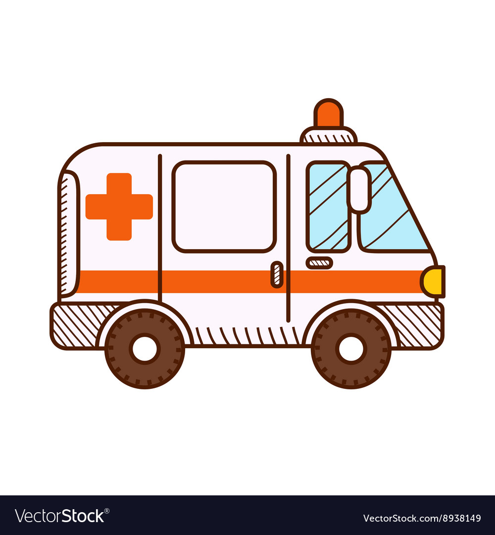 Ambulance clipart background clipart library Ambulance car isolated on white background clipart library