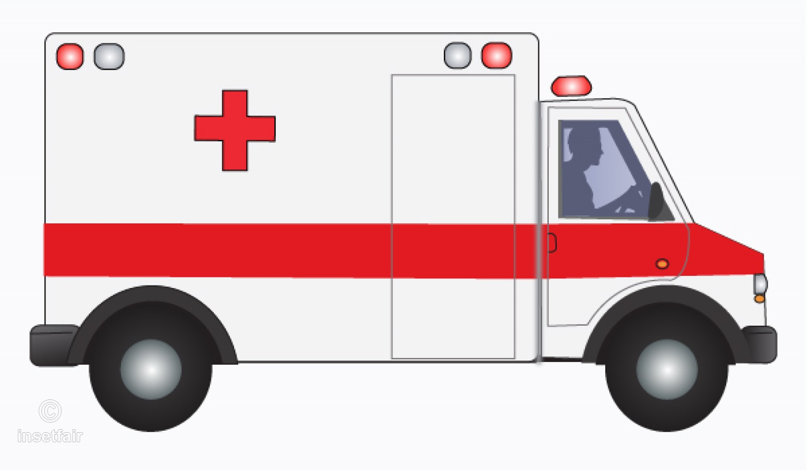 Ambulance pictures clipart vector free library Clipart Ambulance with driver side view vector file vector free library