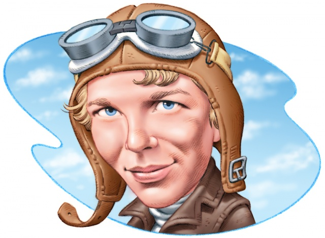 Amelia earhart clipart banner freeuse Soaring Through the Life of Amel : simplebooklet.com banner freeuse