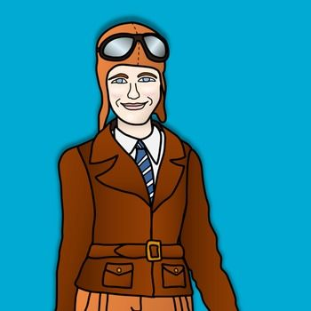 Amelia earhart clipart clip art transparent library Amelia Earhart Clipart and Paper Dolls | Biography doll project ... clip art transparent library
