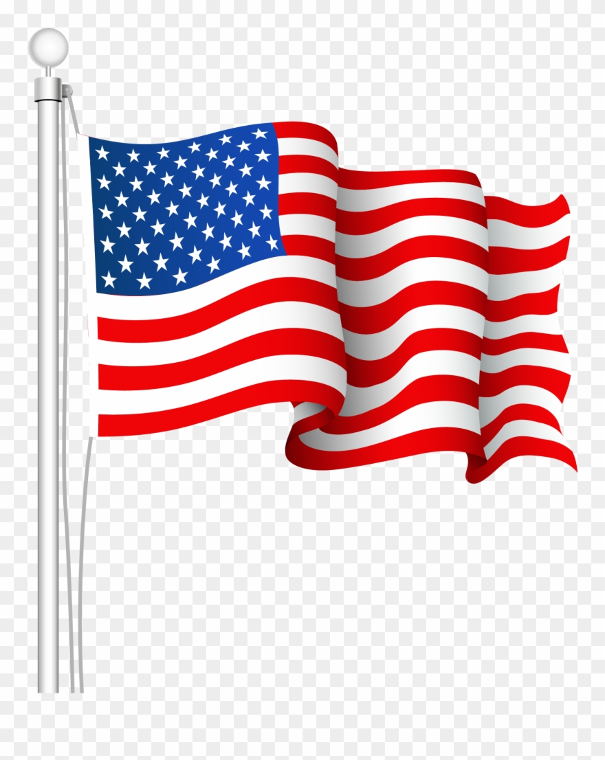 American flag clipart pictures