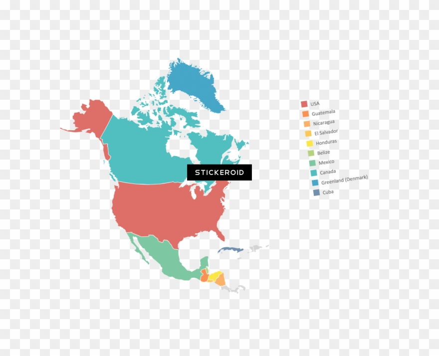 Map of north america clipart png transparent North America Map Clipart (#2400185) - PinClipart png transparent
