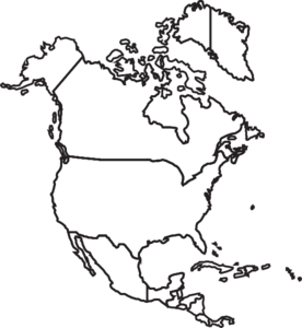 Map of north america clipart vector freeuse download North America Map Clip Art | Missions Moments Resources and Crafts ... vector freeuse download