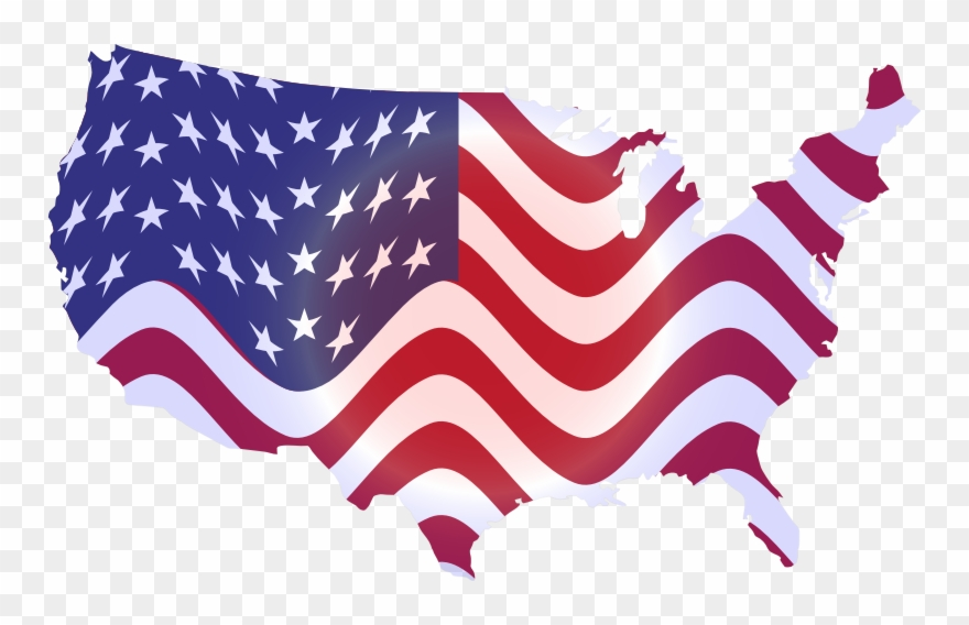 America clipart map clipart library America Clipart Wavy - Wavy Us Flag Map - Png Download (#793983 ... clipart library