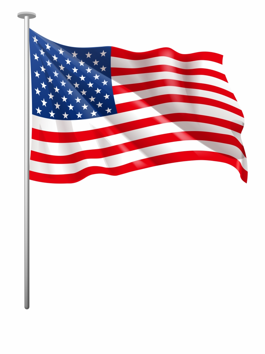United states flag pole clipart free Us Flag American Flag Usa Clipart Png - Transparent American Flag ... free