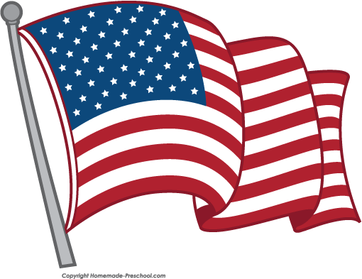 Free clipart american flag picture black and white Free American Flags Clipart picture black and white