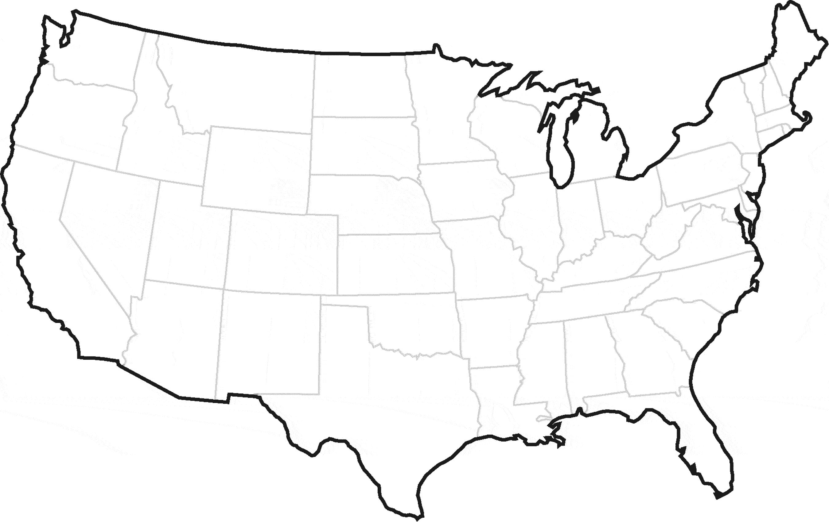 United states map outline clipart graphic free download Map Of Usa Clipart usa map vector art free united states clip art 31 ... graphic free download