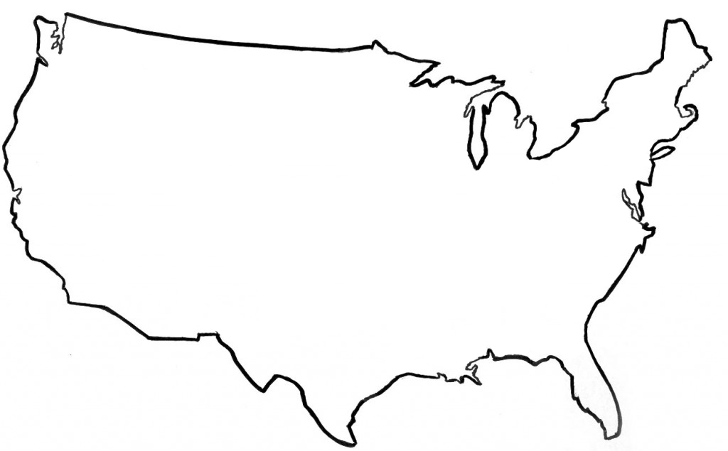 United states map outline clipart png black and white Free United States Map Clipart, Download Free Clip Art, Free Clip ... png black and white